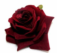 Dark Red Velvet Rose Hair Flower Clip and Pin Silk Rose Flower Hair Clip Bridal Wedding -- You can find out more details at the link of the image.