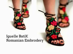 Embroidery romanian inspiration  sandals