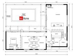 Mc-Home.nl vrijstaande moderne nieuwe bungalow met plat dak ontwerpen en bouwen B33