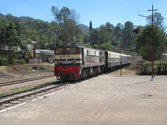 A passenger train pulls into Kalaw, Myanmar (Burma). The journey here from Yangon takes over 14 hours on a good day. Burma Railway, Yangon, Good Day, Journey, Train, Bom Dia, Good Morning, Hapy Day, Zug