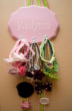 headband and hair clip holder