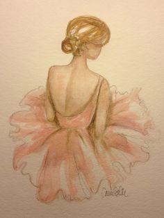 Watercolor Ballerina  Artist Carrie Beth Taylor
