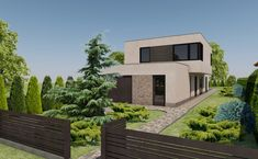 Minimál családi ház Gödön - Jó építész, jó terv Minimalism, Mansions, House Styles, Home Decor, Decoration Home, Room Decor, Villas, Interior Design, Home Interiors