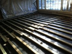 How To Level A Plywood Or OSB Subfloor Using Asphalt Shingles Home Projects Organizing