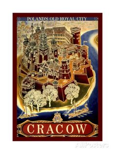 Cracow Stretched Canvas Print
