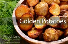 Recipe of the Week: Golden Potatoes   While plain oven-roasted potatoes are delicious, it's good to try adding turmeric and other spices to boost their nutritional value! #RotW