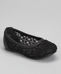 $9.99 Take a look at this Black Spot Ballet Flat by Lucky Top on #zulily today!