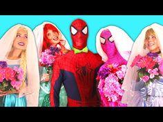 Spiderman & Frozen Elsa CAR PARTY! w/ Bad Baby Maleficent Joker Hulk Pink Spidergirl! Superhero Fun - YouTube