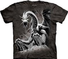 Black Dragon T-Shirt 100% Cotton Short Sleeve Shirt Pre-Shrunk.