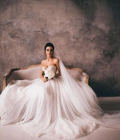 What a beautiful bride and what a gorgeous wedding gown, Vanilla Sky from Rara Avis Princess Wedding Dresses, Elegant Wedding Dress, Wedding Gowns, Vanilla Sky, W Dresses, Ever After, Beautiful Bride, One Shoulder Wedding Dress, Ball Gowns