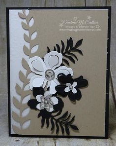 The new Botanical Blooms Bundle from Stampin' Up! includes the Botanical Blooms photopolymer stamp set, Botanical Builder framelits and Botanical Gardens designer series paper. Purchased individ