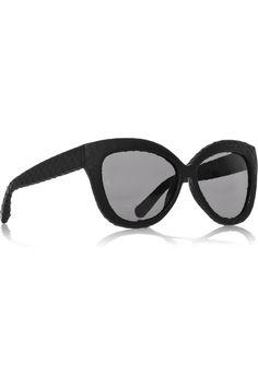db6de39faecd4b Linda Farrow Snakeskin Covered Cateye sunglasses Lunettes, Lunettes De  Soleil