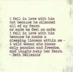 Lionness. Beth Belleisle love quote