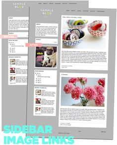 how to add clickable images to sidebars