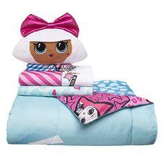 Soft Microfiber Comforter, Sheets and Plush Cuddle Pillow Kids Bedding Set, Twin Size 5 Piece Bundle Pack