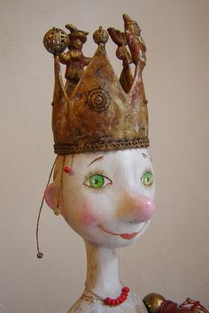 "Art Doll - ""Fairytale Teller""  OOAK. $1,150.00, via Etsy."