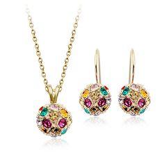 Жарко шамбала оптовая продажа с элементами Swarovski кристалл саудоаравийском золотые украшения