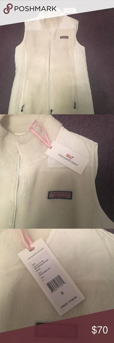 Vineyard Vines quilted vest Vineyard Vines Sea View Quilted Vest. Size small. New  with tags. Color is marshmallow (off white). Price is negotiable. Vineyard Vines Jackets & Coats Vests