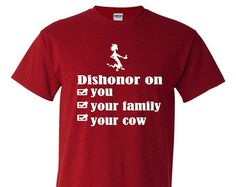 dishonor on you cow – Etsy