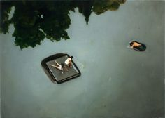 Drifters by Amy Bennett, oil on panel, 5 x 7 inches, 2009