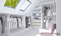Home decoration is one of the most important elements that help you to define the… Attic Bedroom Storage, Attic Master Bedroom, Attic Bedroom Designs, Loft Storage, Bedroom Closet Design, Upstairs Bedroom, Attic Rooms, Closet Designs, Closet Bedroom