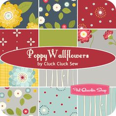 Poppy Wallflowers Fat Quarter Bundle Cluck Cluck Sew for Windham Fabrics - Fat Quarter Shop