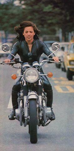 Motorcycle girl                                                                                                                                                      More