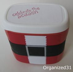 Organized 31: Repurposed Santa Treat Box