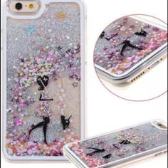 Glitter Liquid 3D  Moving Bling iPhone 6 Plus case 3D hard case Accessories Phone Cases