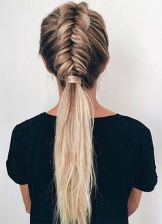 Stylish Sporty Hairstyles for Workout, Hairstyles Athletic Hairstyles, Sporty Hairstyles, Pulled Back Hairstyles, Workout Hairstyles, Everyday Hairstyles, Ponytail Hairstyles, Straight Hairstyles, Sporty Ponytail, Fishtail Ponytail