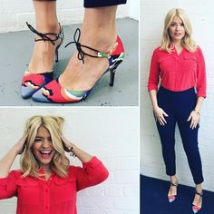 Tuesday's look today we are talking about orange/red with so decided to join in! shirt by and the shoes which I ❤️❤️❤️ are by . Lipstick by shade- solar rust Curvy Fashion, Retro Fashion, Girl Fashion, Fashion Looks, This Morning Fashion, Holly Willoughby Style, Desire Clothing, Hourglass Figure Fashion, Look 2018