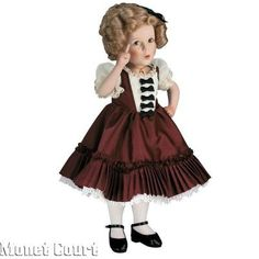 "Everything Shirley Temple dolls | Shirley Temple 10"" Danbury Mint Porcelain ... 