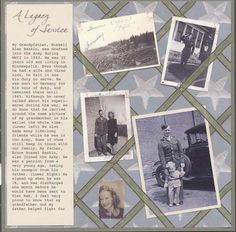 Legacy of Service - heritage scrapbook