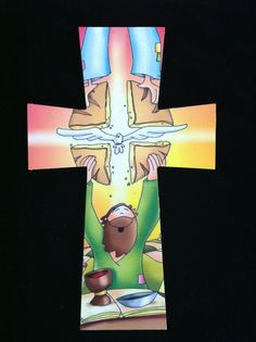 """First proyect. Wood and mod podge.  (Picture from """"Dibujos religiosos para niños - Dibujos Fano"""" on facebook) Thanks"""