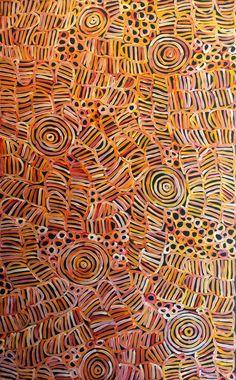 "original, Betty Mbitjana, 58"" x 34"", Awelye, Aboriginal Art, www.aboriginaldreamtimegallery.com"