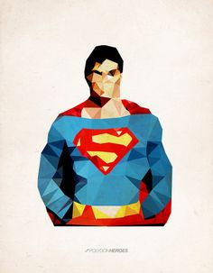 Polygon Heroes - Superman  by TheBlackeningCo. $20