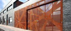 Perforated corten steel - Gateway - Colloboration between Graphic Surgery and Penta Architecten - Metal Cladding, Exterior Cladding, Perforated Metal Panel, Weathering Steel, Steel Fabrication, Corten Steel, Building Facade, Metal Buildings, Facade Design
