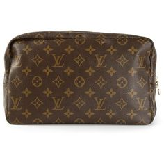 LOUIS VUITTON VINTAGE monogram make up bag (€375) ❤ liked on Polyvore featuring beauty products, beauty accessories, bags & cases, bags, louis vuitton, makeup, louis vuitton makeup bag, leather travel bag, monogrammed cosmetic bags and leather toiletry kit
