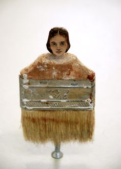 The Paint Brush Series by Rebecca Szeto - Oil on Carved Wood