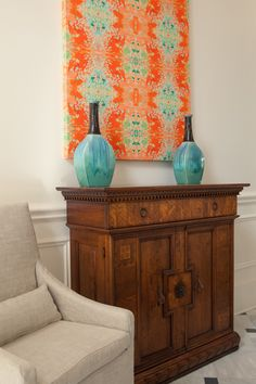 House of Turquoise: Cindy Barganier Interiors--I believe the panel is a piece of…