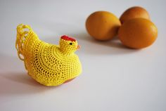 Life is so much better with a Hen Egg Cozy in Yellow by annerstreet4home on Etsy, $12.00