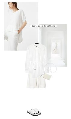 """""""White Story"""" by tinayar ❤ liked on Polyvore featuring MANGO, Reiss and Nine West"""