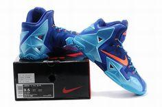 642e0aa4fbe3 Nike LeBron 11 Shoes Mens Nike basketball shoes Blue Orange www.