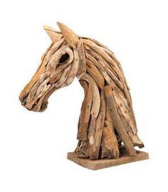 Horse Head Recycled Teak Sculpture -- http://shop.nationaltrust.org.uk/horse-head-recycled-wooden-sculpture/p5395