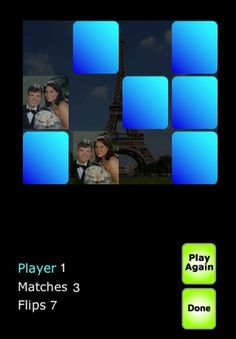 My PhotoMatch-- memory puzzle game  ($0.99) My PhotoMatch is the best, portable version of the classic card game, because you can make it your own!! With My PhotoMatch, you customize the game by using your own photos from your albums on your iPhone™ or iPod Touch™.