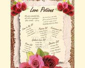LOVE POTIONS, Digital Download,White Magick,  Love Magick, Book of Shadows Page, Grimoire, Scrapbook, Spells