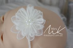 Mohair Flower Headband great for photography prop
