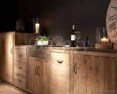 Lee&Lewis Kitchen Keukenblok Gerecycleerde Olm Natuur Met Natuurstenen Blad 320 Poolhousekeuken-Poolhouse keuken-Buitenkeuken