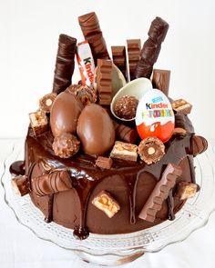 Kinder cake that I made was legit ! – Paulina Korol Kinder cake that I made was legit ! Kinder cake that I made was legit ! Fiesta Cake, Drip Cakes, Pretty Cakes, Celebration Cakes, Themed Cakes, No Bake Cake, Chocolate Recipes, Amazing Cakes, Cupcake Cakes