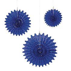 $10.99/doz Blue Tissue Hanging Fans - OrientalTrading.com